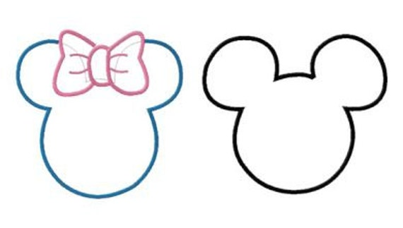 Instant Download Disney Mickey And Minnie Ears Two Pack