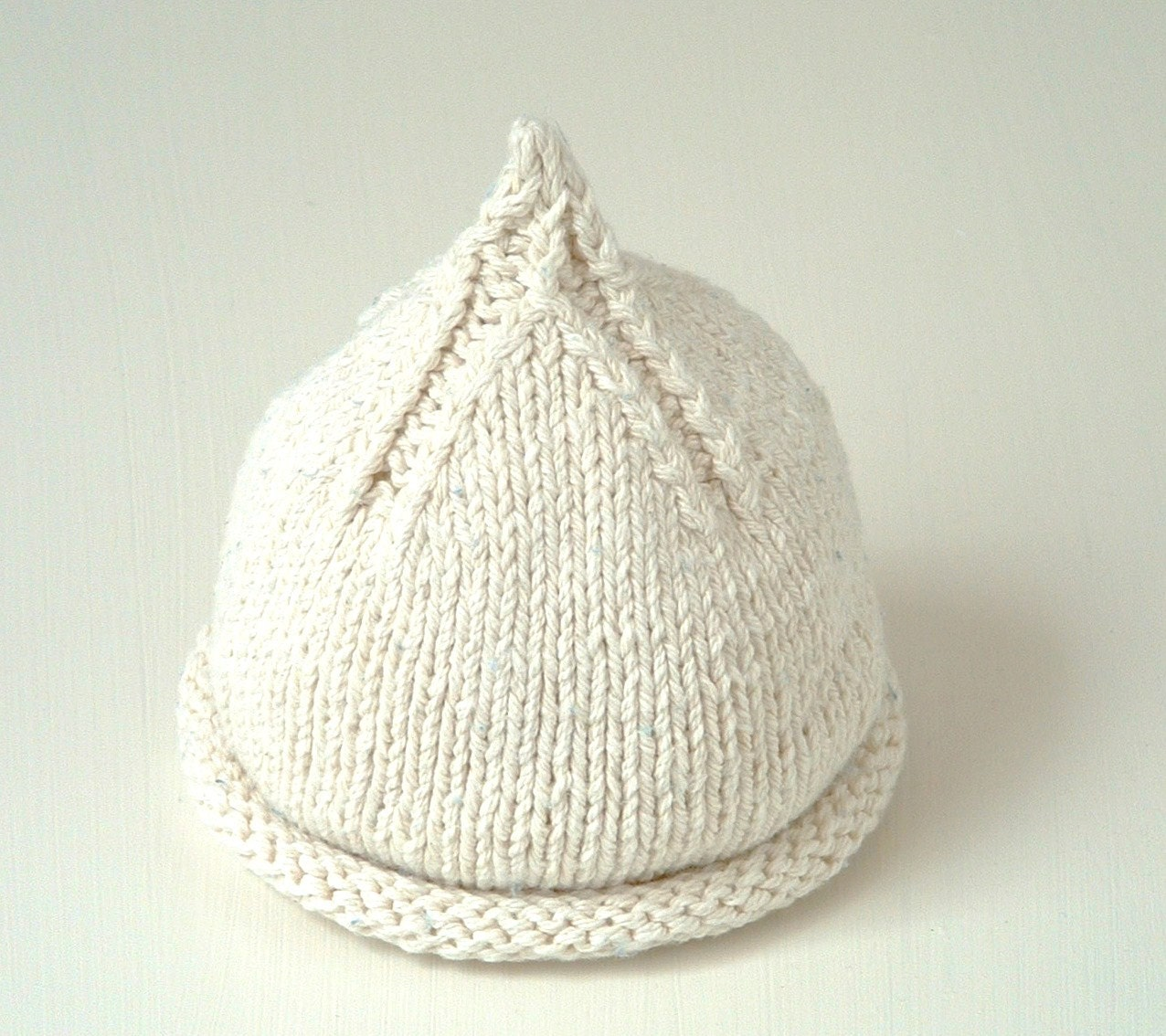 Flat Knitting Patterns : In the Round and Flat knitting PDF Beanie KNITTING PATTERN