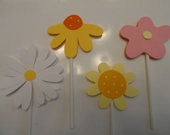 Flower Cupcake Toppers