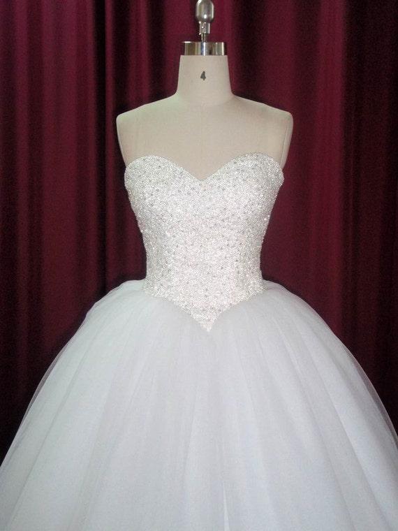 Items similar to strapless princess ballgown wedding dress for Big princess wedding dresses