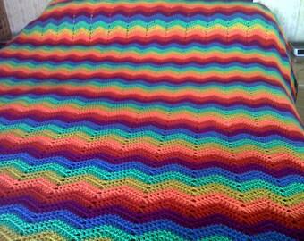 Large crochet bedspread