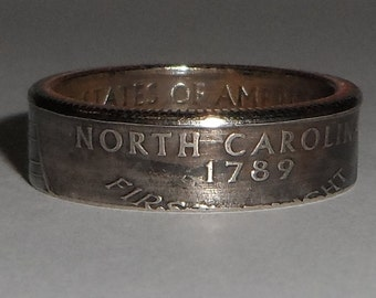 NORTH CAROLINA   us quarter  coin ring size  or pendant