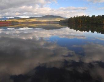 Reflection of Chocoura, Mt. Chocorua photo print, Chocoura Lake, New Hampshire White Mountains