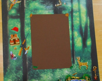 12 x 12 Pre-made Hunting Scrapbook Page
