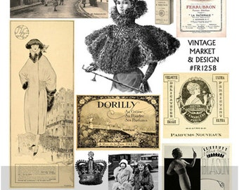 French Collage Sheet   No.158