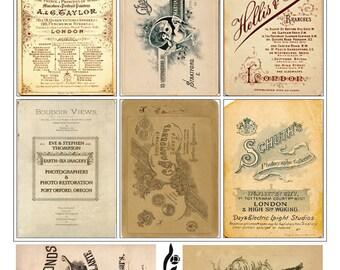 Vintage Ephemera Collage Sheet No.CA2256- Cards