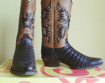 Sendra Crocodile Cowboy Boots