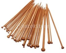36 pieces 18 Sizes Carbonized Bamboo Knitting Needles Single Pointed Needles - sizes ranging from 2mm to 10mm  Length: Approx. 9.7-9.9 inch