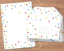 Confetti - handmade stationery // recycling paper // 10 envelopes & notepad