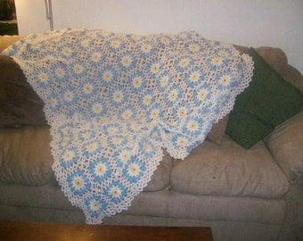 Field of Daisies Afghan, Crocheted