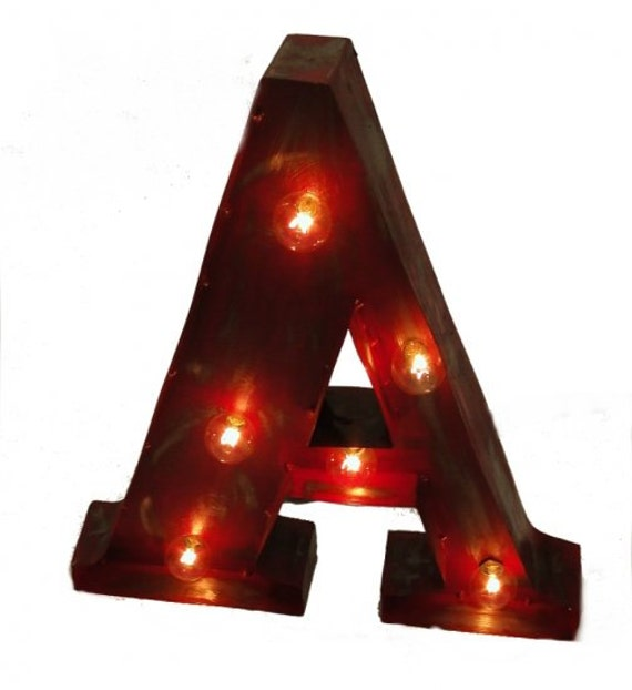 Vintage Marque Style Lighted Wall Mounted Letters entire