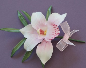 Handcrafted Sugar Orchid Wedding/Special Occasion Cake topper