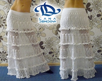 MADE TO ORDER Lace skirt maxi , crochet handmade , custom made