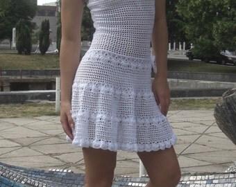 MADE TO ORDER Crochet Dress custom made, hand made, crochet - 100% viscose