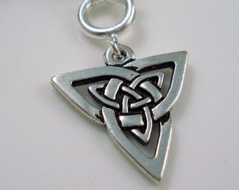 Celtic Knot Pewter Charm, High quality Terra Cast Pewter Charm