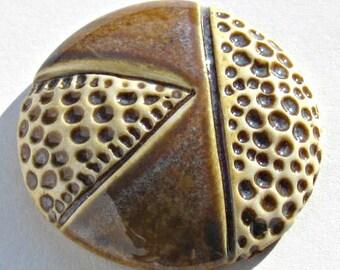 Ceramic Cabochon in Blue Brown