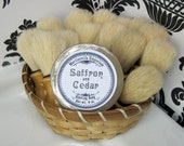 Saffron and Cedar Shaving Soap  - Made in Martinsville