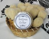 Saffron and Cedar Shaving Soap  - Made in Martinsville