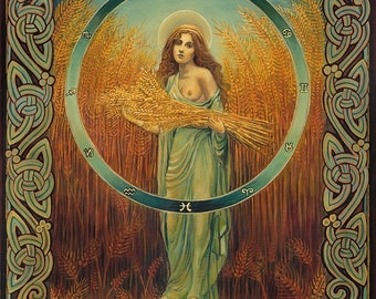 Ceres Roman Fertility & Agriculture Goddess 11x14 Fine Art Print Pagan Mythology Goddess Art
