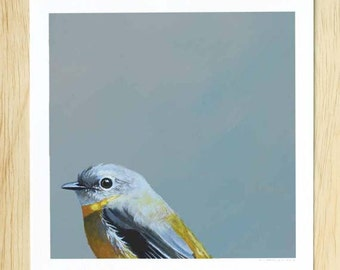 An Innocent, Unsuccessful Search For The Age Of A B-List Actress...8 x 8 Art Print - Bird - Giclee - Mincing Mockingbird