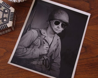Vintage Photo of a Soldier - World War II Portrait - black and white photography