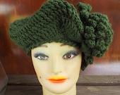 Crochet Pattern, Womens Crochet Hat Pattern, LYNETTE Crochet Beret Hat Pattern, Crochet Beret Pattern, Crochet Flower, Womens Hat
