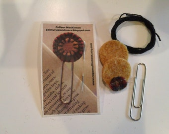 Penny Rug Bookmark Kit