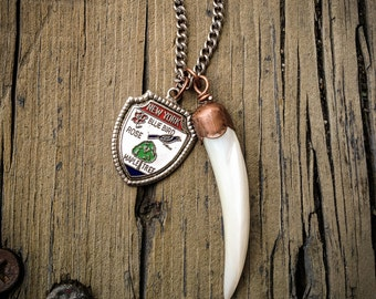 New York and Mother of Pearl Horn Necklace