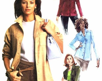Long Sleeve Shirts Pattern Womens McCalls 3721 Sewing Pattern Misses Size 4 - 14 Bust 29 1/2 - 36 UNCUT
