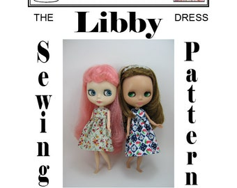 Dolly Delicacies Sewing Pattern for Blythe Libby Dress PDF Download