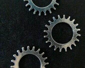 10 22mm watch gear cog charm