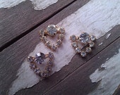 Crystal Rhinestone Finding. Goldtone. Vintage. New Old Stock. One.
