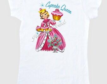 Cupcake Queen Women's T Shirt Adult Size S M L Xl 2Xl