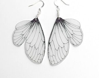 Cicada wing dangle earrings