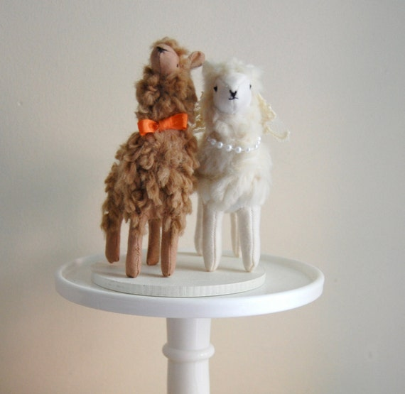 Items Similar To Llama Cake Topper Made To Order On Etsy