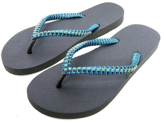 to wear - Rhinestone Handmade ace embellished flip flop shoes video