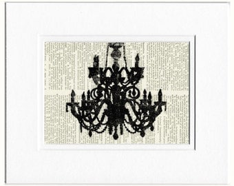 chandelier IV dictionary page print