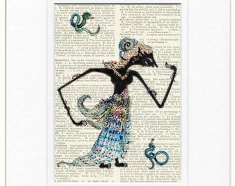 ancient shadow puppet II print