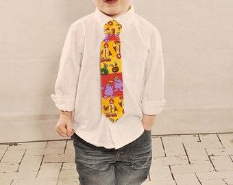 Little Boys, McDonald's Necktie Ronald MacDonald, Grimace Yellow, Red, Purple