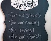Prayer Request Chalkboard - Keaton Scroll Black vertical