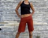 "ORGANIC Simplicity 12"" Shorts - ( light hemp and organic cotton knit ) : - organic shorts"