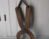 Rustic Rusty Hand Forged Log Carrier