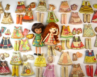 ... Collection : Doll Clothes Sewing kit Pattern for small dolls Sz1