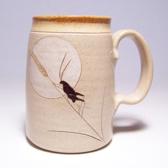 Cricket and Moon Pottery  Mega Mug Limited Series 201 (24 ounce microwave safe)
