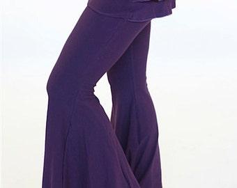 Dance pants Ruffle pants attached skirt, BUSTLE PANTS, burning man, festival clothing, flare dance pants, bellydance pants, trendy