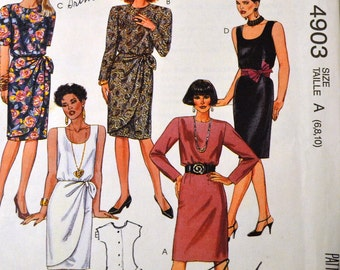 UNCUT Misses' Little Black Dress Sewing Pattern Vintage  McCall's 4903   Bust 30 to 32 inches Uncut Complete
