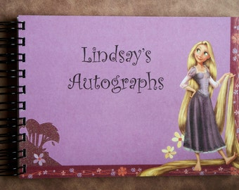 Personalized Disney Tangled Rapunzel Autograph Book