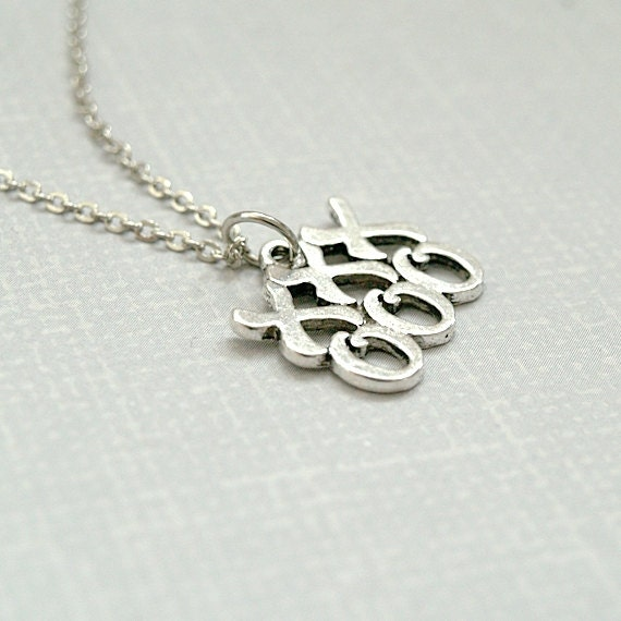 hugs and kisses necklace xoxo necklace by chrysdesignsjewelry