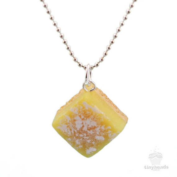 Scented lemon bar necklace lemon bar gift scented jewelry for How to make scented jewelry
