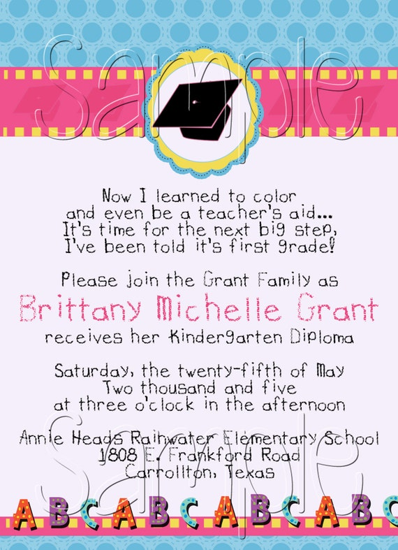 Kindergarten Graduation Invitation Wording is best invitation layout